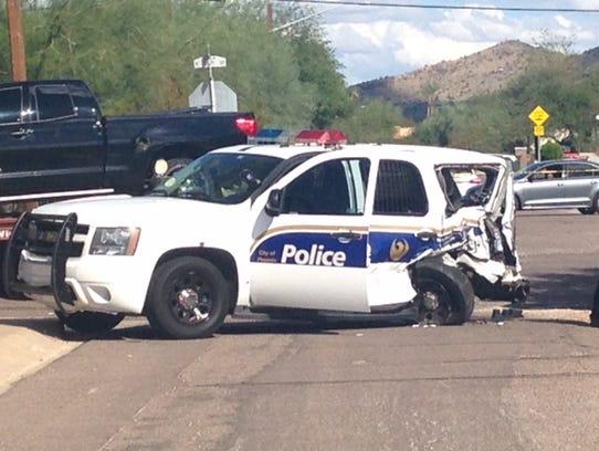 Phoenix Police Suv Involved In 3 Vehicle Crash