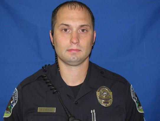 Burlington police Sgt. Brian Labarge, a 10-year veteran.