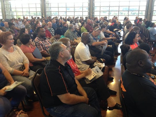 Hundreds gathered at the Wilma Rudolph Event Center