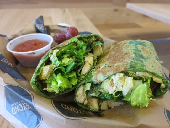 Beyond Juicery + Eatery features healthy wrapped sandwiches,