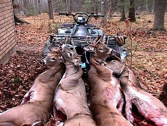 Deer harvested in 1999 in Wisconsin.