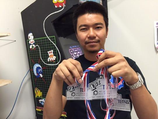 Arlo Del Rosario, co-founder of Melbourne Makerspace,