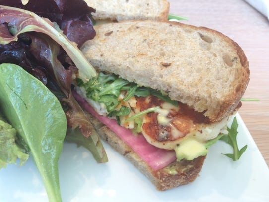The grilled haloumi sandwich at the Collective Espresso