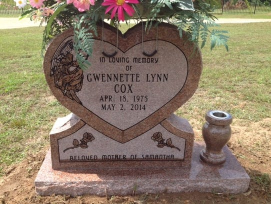 Gwen Salley's tombstone