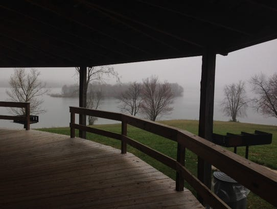 The view of Lake Marburg that could be seen from inside