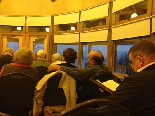 Worshipers attend Sonlight Christian Fellowship's sunrise