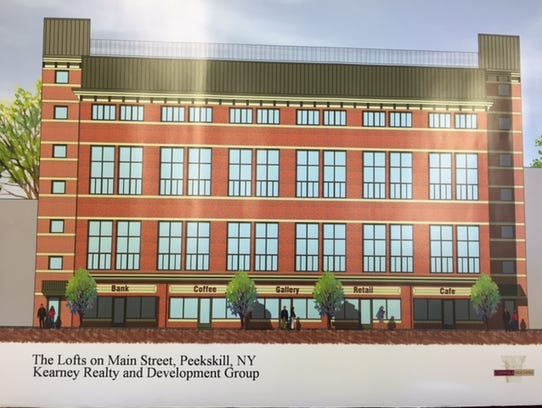 A rendering of a development by Kearney Realty and