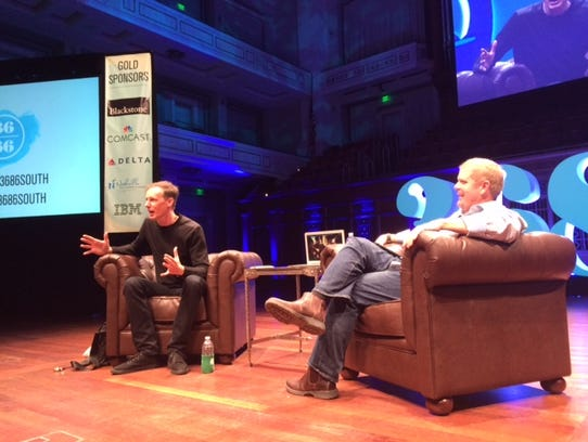Jim McKelvey, Square co-founder with Joe Maxwell at