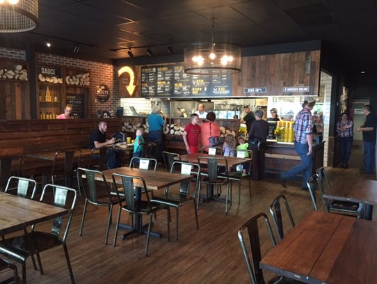The inside of the new Dickey's Barbecue Pit in Hanover.