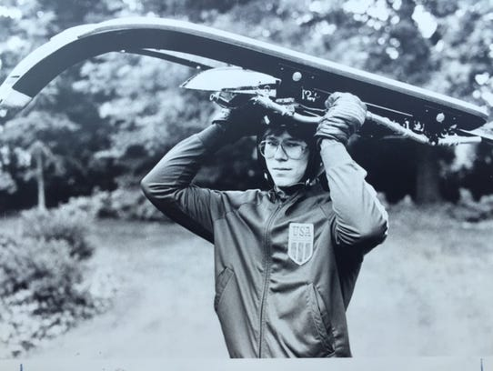 Frank Masley during his early days on the U.S. luge