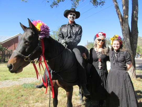 Locals celebrate the Day of the Dead in Lincoln.