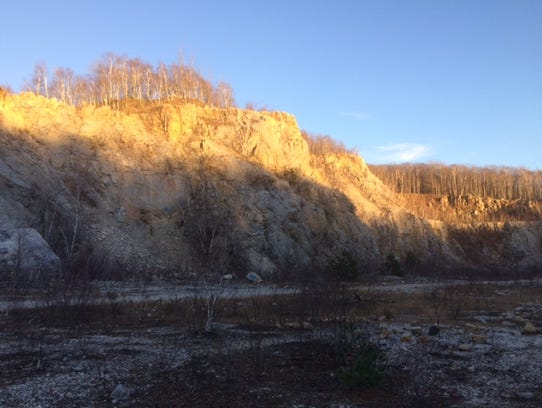 The quarry on Rib Mountain State Park is a feature