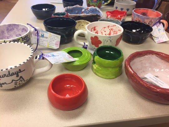 The bowls that will be handed out at this year's Empty