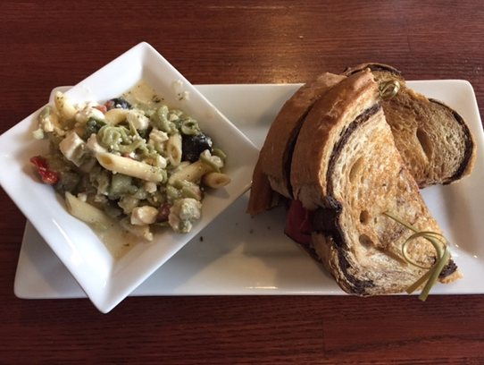 Blue Slip Bistro's offerings include a Reuben and pasta