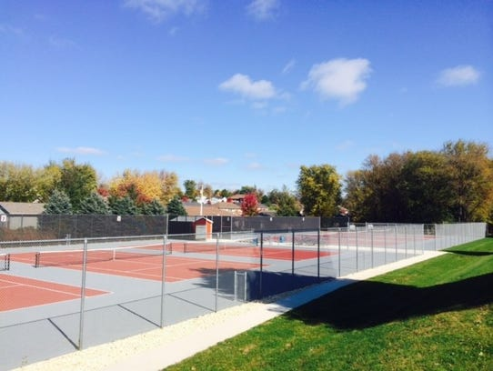 Western Dubuque Schools recently built tennis courts