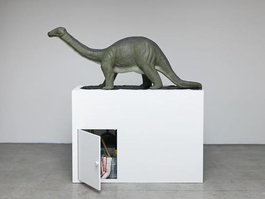 """Brontosaurus"" by Mark Dion on display at Milwaukee"