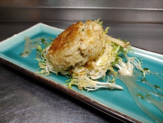 Mama Verve's Maryland-style crabcake at Verve.