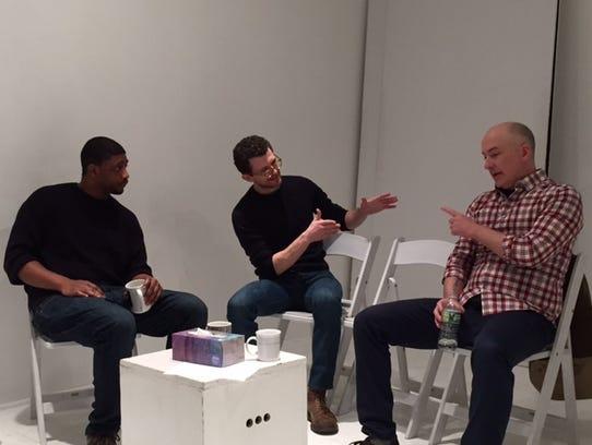 From left: Isaiah Seward (Ray),  Josh Marcantel (Dan)