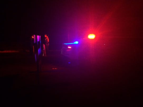 Officers block the intersection of Lincoln County FF