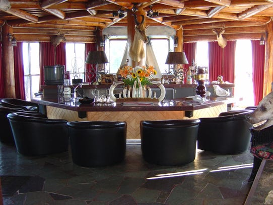 The Granot Loma mansion's rustic bar has plenty of