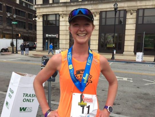 Caesar Rodney Half-Marathon women's champion Rochelle
