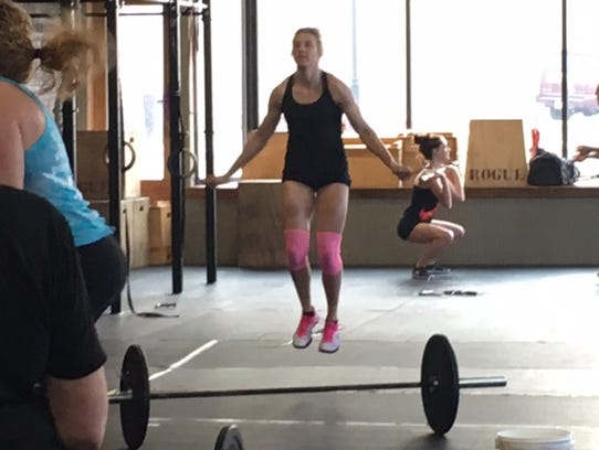 Sara Webb competes in the Crossfit Katana Open at the