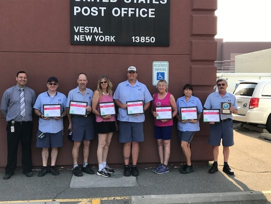 Vestal postal workers were recognized for exceptional