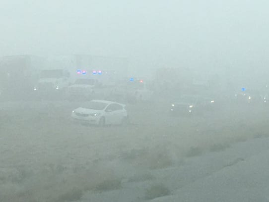 An idea of the visibility at the time when a dust storm