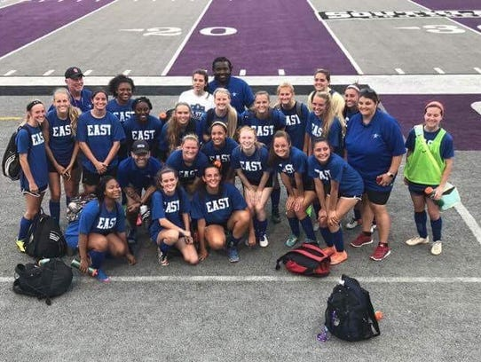 The East girls' soccer team defeated the West 3-1 Wednesday