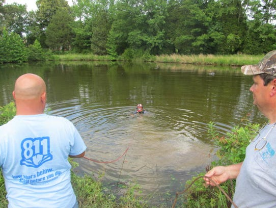 Carroll County Fire Department diver Tim Bennett went
