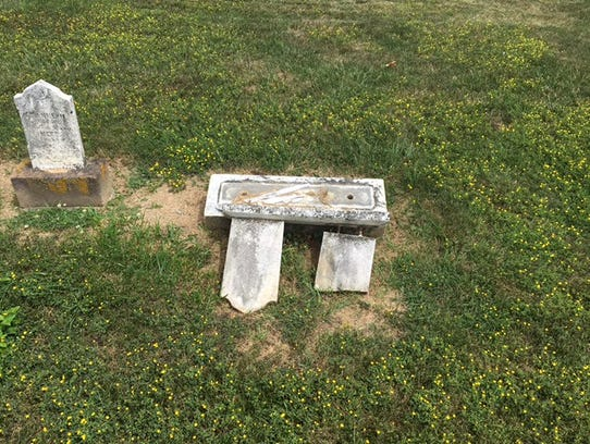 Police say a cemetery in Spring Grove was vandalized