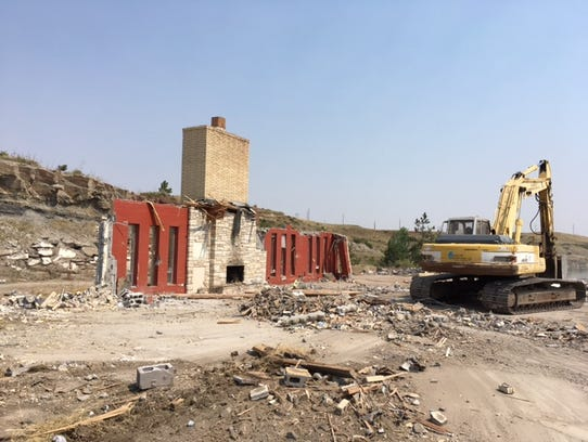 The demolition of the former Wilhelm home makes way