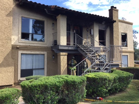 Two second-story units were damaged by the flames,