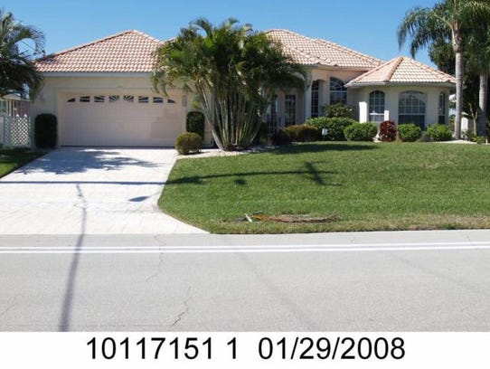 This home at  5110 Sands Blvd., Cape Coral, recently
