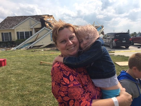 Susan Cooper and her daughter Alyse escaped injury