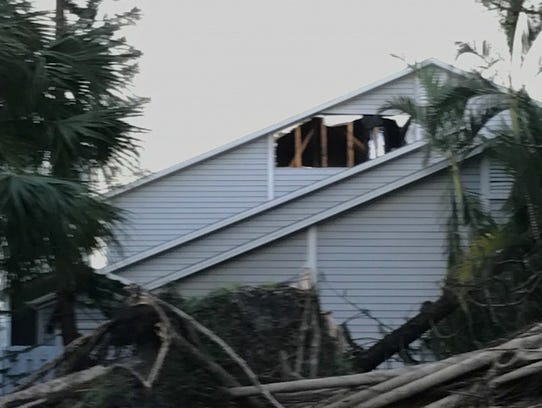 The most major damage seen was areas like this where