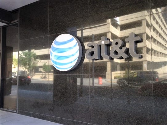 AT&T's corporate logo is on its Downtown El Paso facility.