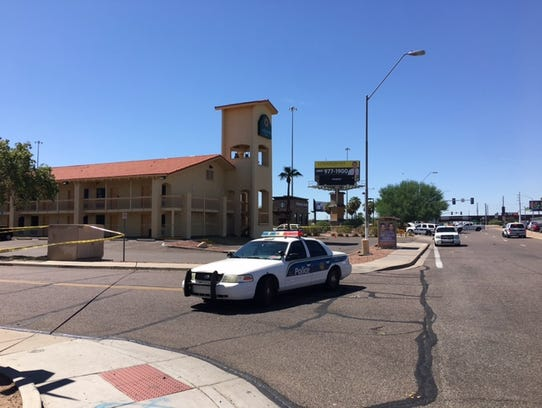 Police were investigating a fatal stabbing off Thomas