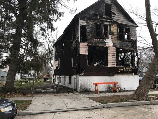 Fire-damaged home at 465 S. Ninth Ave. in Mount Vernon,