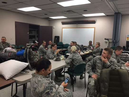 About 15 members of the 179th Airlift Wing and 178th