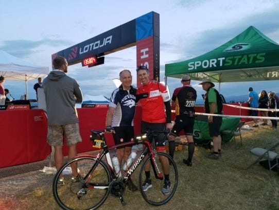Rob Cocanour, left and Danny Clausen, completed the