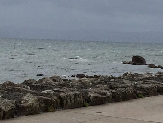 Ocean view from the promenade.