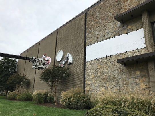 The old RCA signage is erected at RCA Studio A on Saturday,