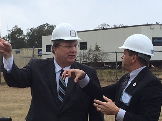 Memphis Mayor Jim Strickland talks with Public Works