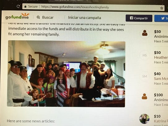 A GoFundMe account was created for the Holcombe family.
