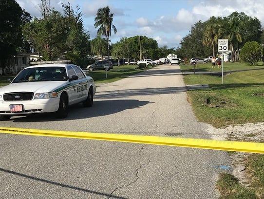 Crime scene tape blocks off Maine Avenue in the Morse