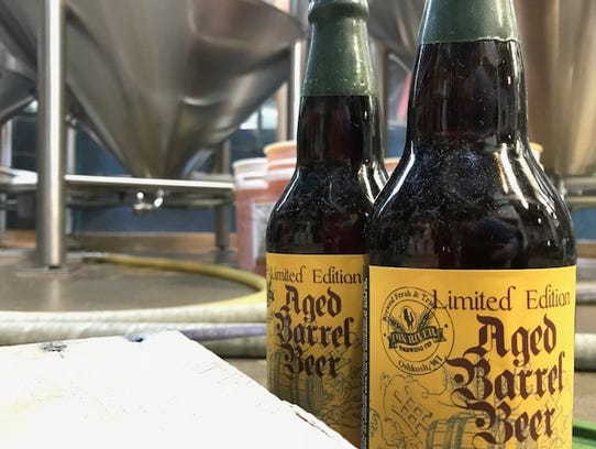 A stout aged three years in a port wine barrel is being
