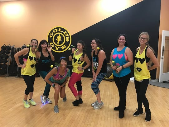Gold Gym's finest Zumba instructors, from left, Shannon