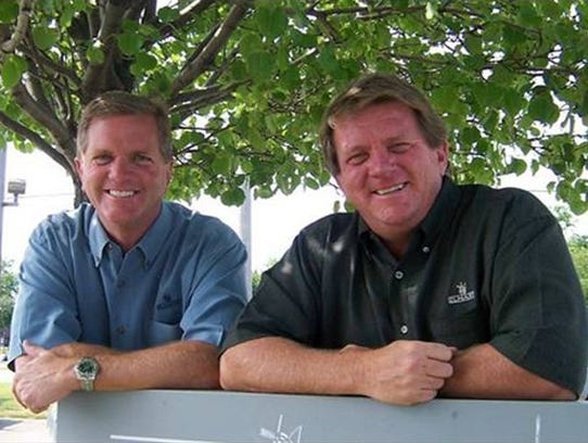 Jeff Elhart, left, and his older brother, Wayne, before