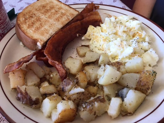 Breakfast is the draw at the Scotts Corner Cafe, but
